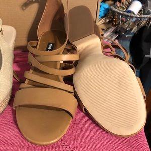 Nine West Low Beige Sandal- worn once